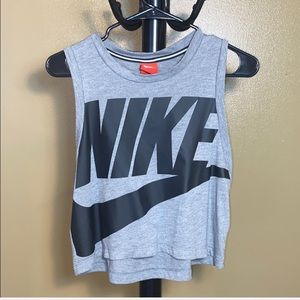 Nike crop top, sleeveless, black/gray, medium